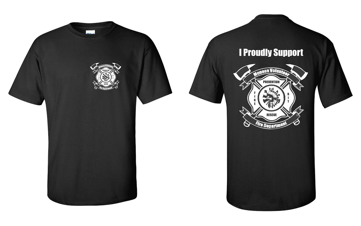 I Support Monaca Fire Department Shirt – Monaca Fire